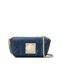Bolso bandolera de cuero acolchado azul marino de Sonia Rykiel