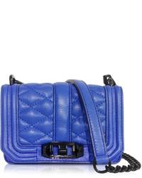 Bolso bandolera de cuero acolchado azul