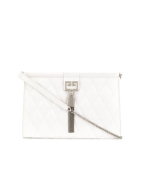 Bolso bandolera de cuero acolchado blanco de Givenchy