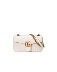 Bolso bandolera de cuero acolchado blanco de Gucci