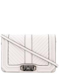 Bolso bandolera de cuero acolchado blanco de Rebecca Minkoff