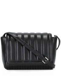 Bolso Bandolera de Cuero Acolchado Negro de DKNY