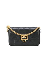 Bolso bandolera de cuero acolchado negro de Givenchy