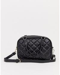 Bolso bandolera de cuero acolchado negro de Juicy Couture