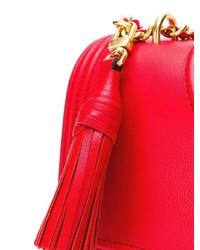 Bolso bandolera de cuero acolchado rojo de Tory Burch