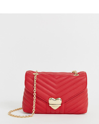 Bolso bandolera de cuero acolchado rojo de Valentino by Mario Valentino