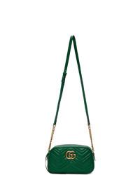 Bolso bandolera de cuero acolchado verde de Gucci