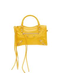 Bolso bandolera de cuero amarillo de Balenciaga