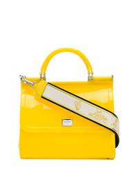 Bolso bandolera de cuero amarillo de Dolce & Gabbana