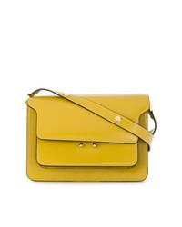 Bolso bandolera de cuero amarillo de Marni