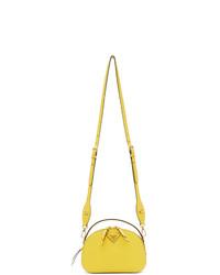 Bolso bandolera de cuero amarillo de Prada