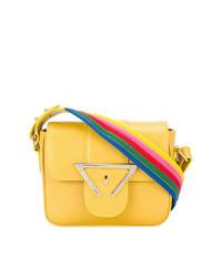 Bolso bandolera de cuero amarillo de Sara Battaglia