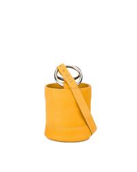 Bolso bandolera de cuero amarillo de Simon Miller