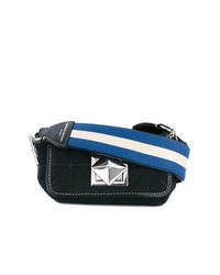 Bolso Bandolera de Cuero Azul Marino de Sonia Rykiel