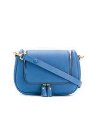 Bolso bandolera de cuero azul de Anya Hindmarch