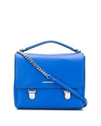 Bolso bandolera de cuero azul de Calvin Klein Jeans