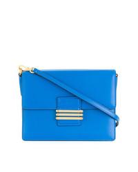 Bolso bandolera de cuero azul de Etro