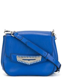 Bolso bandolera de cuero azul de Tod's