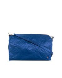 Bolso bandolera de cuero azul de Zilla