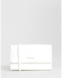Bolso bandolera de cuero blanco de Matt & Nat