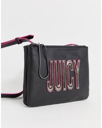 Bolso bandolera de cuero con adornos negro de Juicy Couture