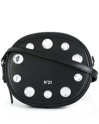 Bolso bandolera de cuero con adornos negro de No.21