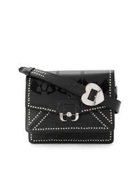 Bolso bandolera de cuero con adornos negro de Paula Cademartori