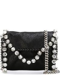 Bolso bandolera de cuero con adornos negro de Stella McCartney