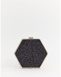 Bolso bandolera de cuero con adornos negro de Warehouse