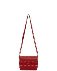 Bolso bandolera de cuero con adornos rojo de Valentino