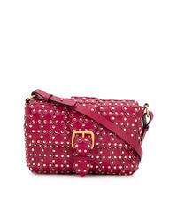 Bolso bandolera de cuero con adornos rosa de RED Valentino