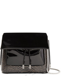 Bolso bandolera de cuero con print de serpiente negro de 3.1 Phillip Lim