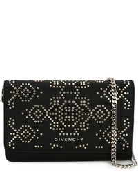 Bolso bandolera de cuero con tachuelas negro de Givenchy