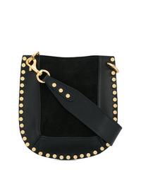 Bolso bandolera de cuero con tachuelas negro de Isabel Marant