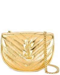 Bolso bandolera de cuero dorado de Saint Laurent