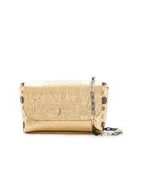 Bolso bandolera de cuero dorado de Zadig & Voltaire