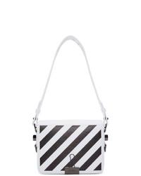 Bolso bandolera de cuero en blanco y negro de Off-White
