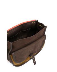 Bolso bandolera de cuero en marrón oscuro de Jerome Dreyfuss
