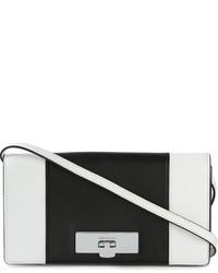 Bolso bandolera de cuero en negro y blanco de MICHAEL Michael Kors