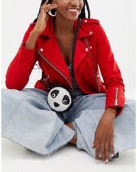 Bolso bandolera de cuero en negro y blanco de Yoki Fashion