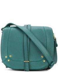 Bolso bandolera de cuero en verde azulado de Jerome Dreyfuss