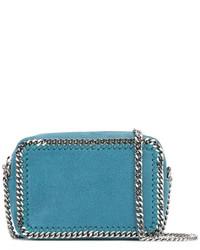 Bolso bandolera de cuero en verde azulado de Stella McCartney