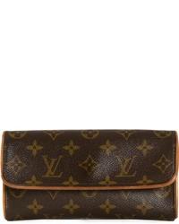 Bolso bandolera de cuero estampado en marrón oscuro de Louis Vuitton