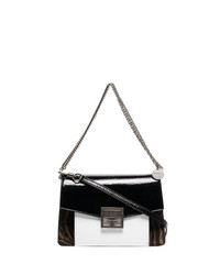 Bolso bandolera de cuero estampado en negro y blanco de Givenchy