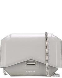 Bolso bandolera de cuero gris de Givenchy