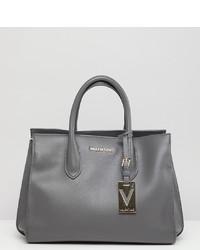 Bolso bandolera de cuero gris de Valentino by Mario Valentino