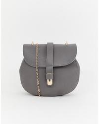 Bolso bandolera de cuero gris de Yoki Fashion