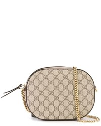 Bolso bandolera de cuero marrón claro de Gucci