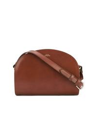 Bolso bandolera de cuero marrón de A.P.C.