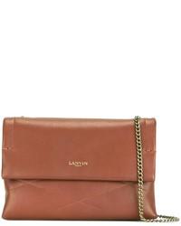 Bolso bandolera de cuero marrón de Lanvin